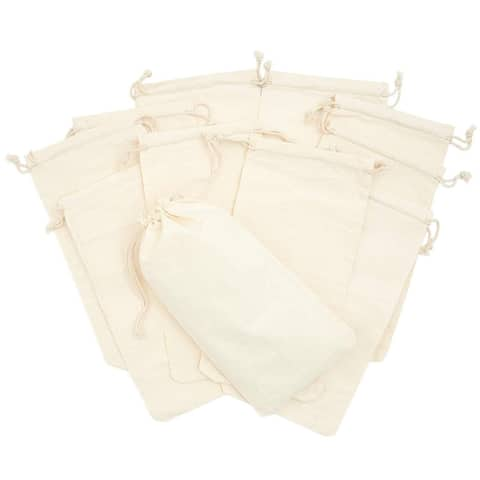 """12 Pack Party Favor Bags Drawstring Gift Bag for Jewelry Birthday Wedding 4.9x9"""""""