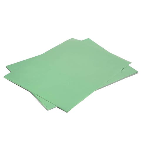 """50x Green Metallic Foil Shimmer Paper for Weddings Birthdays Wrapping 8.5x11"""""""