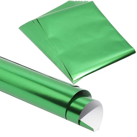 """50x Green Metallic Foil Shimmer Paper for Wedding Birthday Wrapping 8.5x11"""""""
