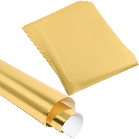 """50x Gold Metallic Foil Shimmer Paper for Wedding Birthday Wrapping 8.5x11"""""""