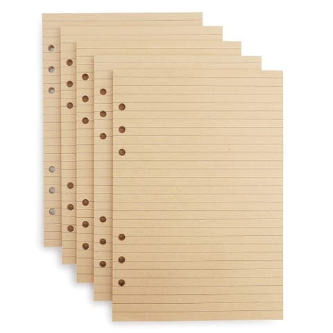 250 Sheets A5 Lined Filler Paper Binder Notebook Papers 6 Hole Punch for Note Taking To Do List Shopping Lists, 5.5 x 8.5 Inches