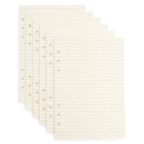 300 Sheets A5 Lined Filler Paper Binder Notebook Papers 6 Hole Punch for Note Taking To Do List Shopping Lists, 5.5 x 8.5 Inches