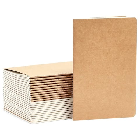"""24Pack College Ruled Travel Journal A5 Notepads Notebooks Lined Paper, 5.4X8.25"""""""