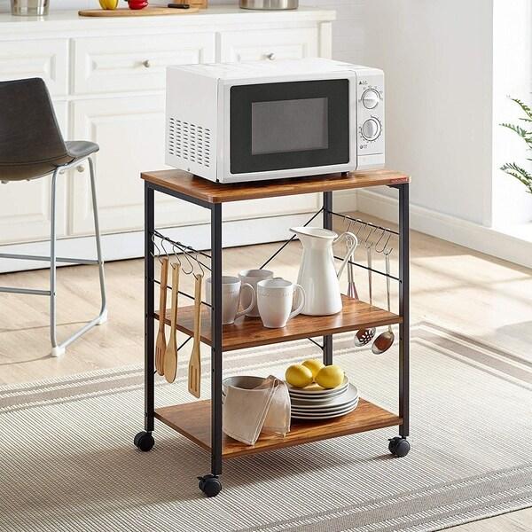 3-Tier Kitchen Bakers Rack Microwave Oven Stand Storage Cart Workstation Shelf
