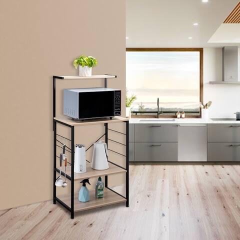 4 Tier Wooden Kitchen Shelf Baker's Rack Brown