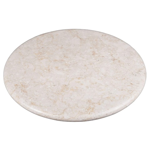 """Creative Home Champagne Marble 12"""" Lazy Susan, Rotating Serving Board"""