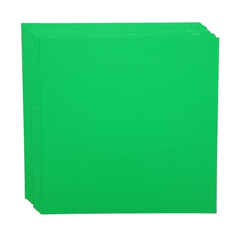50 Sheets Each Green Cardstock Craft Paper for Card Making, 12 x 12 in
