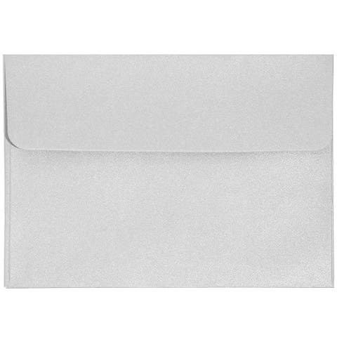 50 Pack A1 Metallic Silver 3.5 x 5 in Invitation Envelopes for RSVP Party