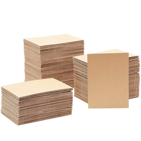 200 Pack Corrugated Cardboard Sheets Cardboard Filler Inserts for Packing Mailing Crafts, 5x7 in