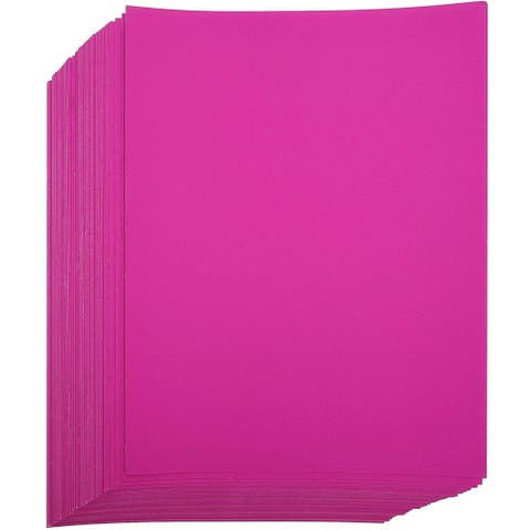 "96-piece Purple Fuchsia Cardstock Paper Craft Sheets Letter Size 8.5""x11"" for Craft DIY Project"