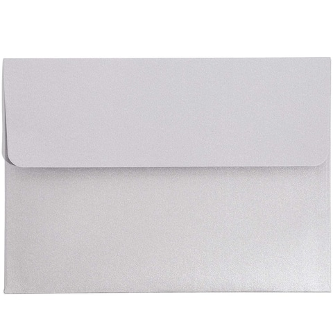 50 Pack A7 Metallic Silver 5 x 7 in Invitation Envelopes for RSVP Party