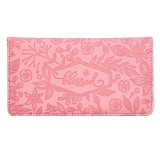 Link to Floral Checkbook Cover Women Wallet for Check Credit Cards RFID Blocking Pink Similar Items in Wallets