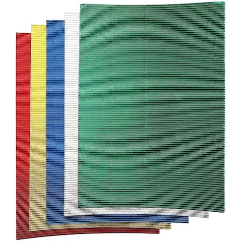 30x Corrugated Cardboard Sheets Paper for Invitation Metallic Colors 8.5 x 11""