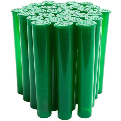 300 Pack 4.6 in Smell Proof Odor Sealing Tube Airtight Container Joint Tube Pop Top Containers for Tobacco Cigarette, Green