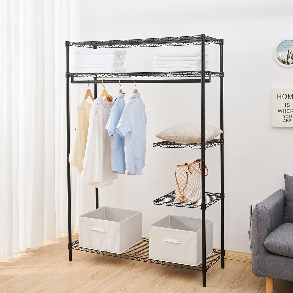for Garment Lorell Industrial Wire Shelving Garment Hanger Bar Coat Metal
