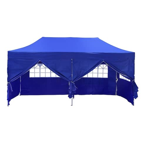 Ainfox 10ft x20ft Pop Up Patio Canopy Tent with 6-Sided wall
