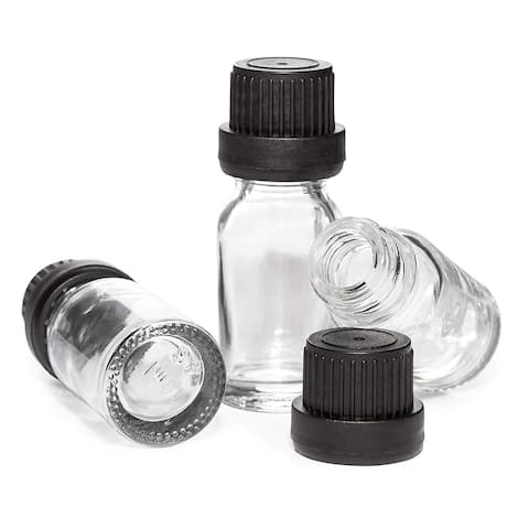 16 Pack Glass Lab Sample Bottle Vials 0.33 oz with Lids for Labs Experiment Test