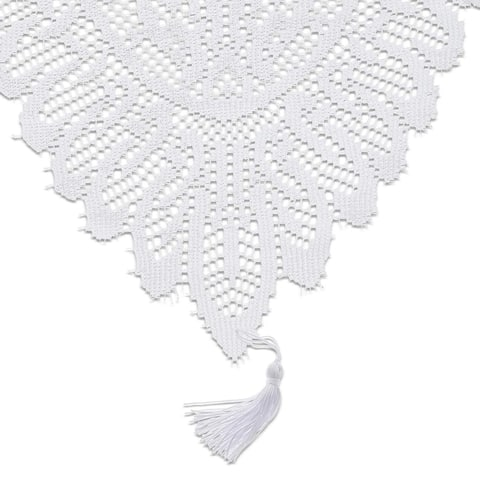 White Lace Table Cloth Runner Doilies Wedding Bridal Shower Decor 13 x 54""