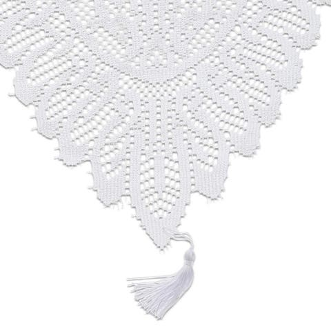 White Lace Table Cloth Runner Doilies Wedding Bridal Shower Decor 13 x 72""