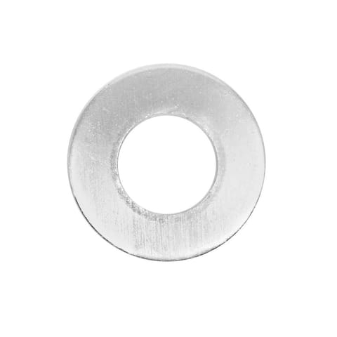 50 Count Metal Stamping Blanks, Flat Round Washers with Center Hole for DIY, Silver - 50 Pcs