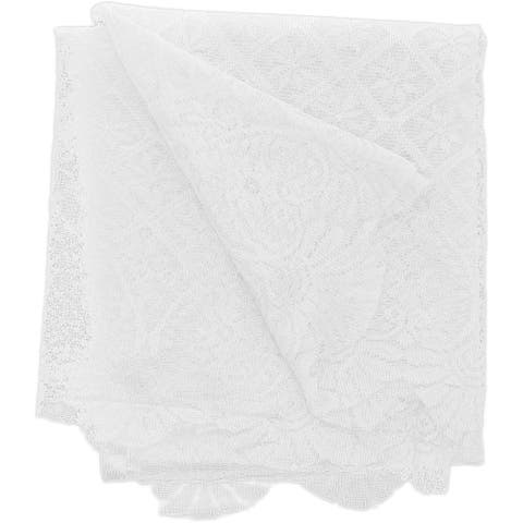 Lace Rectangular Table Cloth Cover, 70 x 120 inches White Tablecloth for Wedding Party, Festive Events