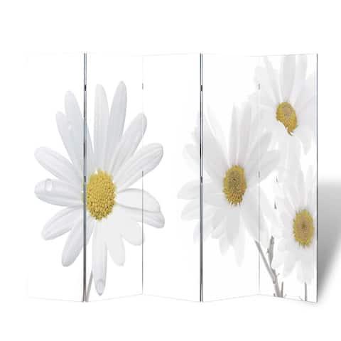 "Folding Room Divider 78.7""x66.9"" Flower"