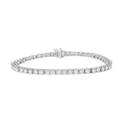 IGI Certified 14K White Gold 5 3/4ct TDW Diamond Tennis Bracelet (H-I, I1)