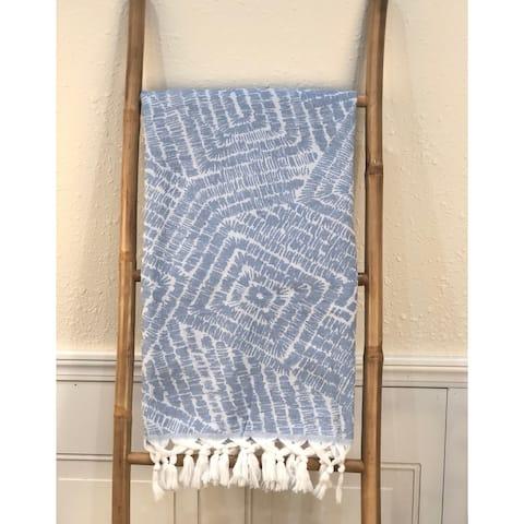 """Patmos Cotton Throw Blanket 36""""x67"""""""