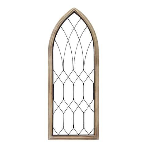 Stratton Home Decor Farmhouse Window Panel - 15.94 X 0.87 X 42.00