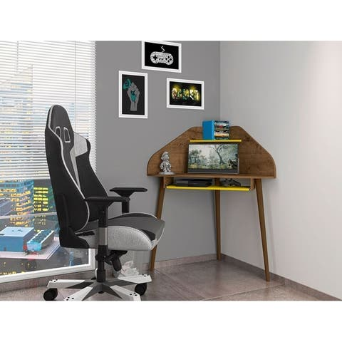 Bradley Corner Desk with Keyboard Shelf by Manhattan Comfort