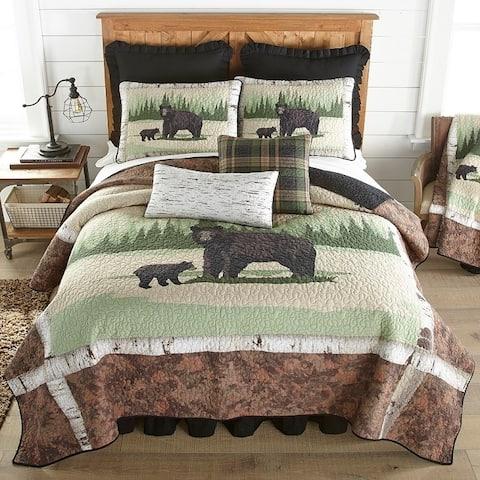 Donna Sharp Birch Bear Cabin/Lodge Quilt Set