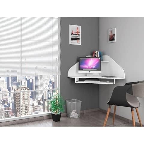 Bradley Floating Corner Desk with Keyboard Shelf by Manhattan Comfort