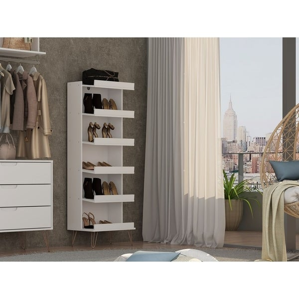 Rockefeller Shoe Storage Rack with 6 Shelves by Manhattan Comfort. Opens flyout.