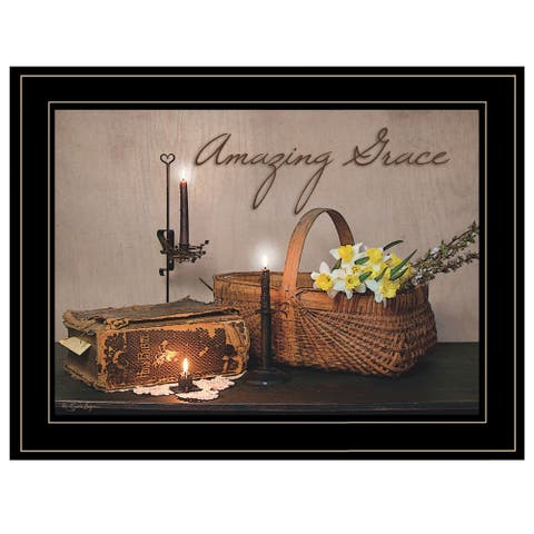"""""""Amazing Grace"""" By Susie Boyer, Ready to Hang Framed Print, Black Frame"""