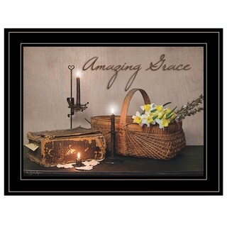 """Link to """"Amazing Grace"""" By Susie Boyer, Ready to Hang Framed Print, Black Frame Similar Items in Art Prints"""