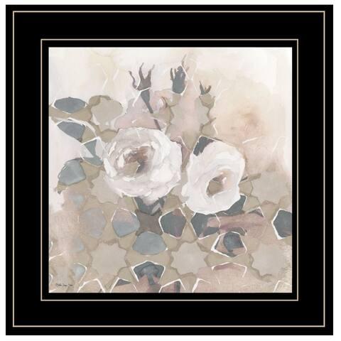"""Transitional Blooms I"" By Stellar Design Studio, Ready to Hang Framed Print, Black Frame"