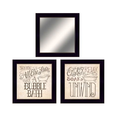 """Soak & Unwind"" By Deb Strain, Ready to Hang Framed Print, Black Frame"