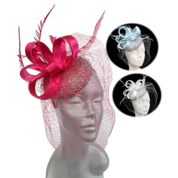 Women's Designer couture rhinestone-encrusted fascinator Hat. Opens flyout.