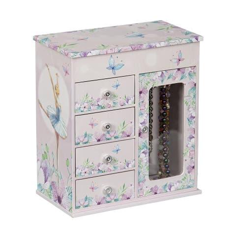 Mele & Co. Liliana Girl's Musical Ballerina Jewelry Box