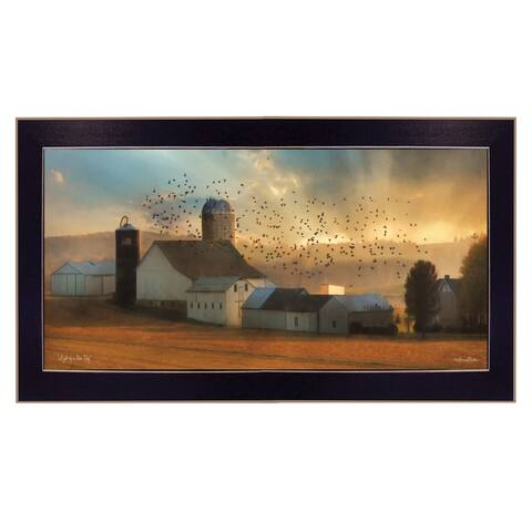 """Light of a New Day"" By Lori Deiter, Ready to Hang Framed Print, Black Frame"