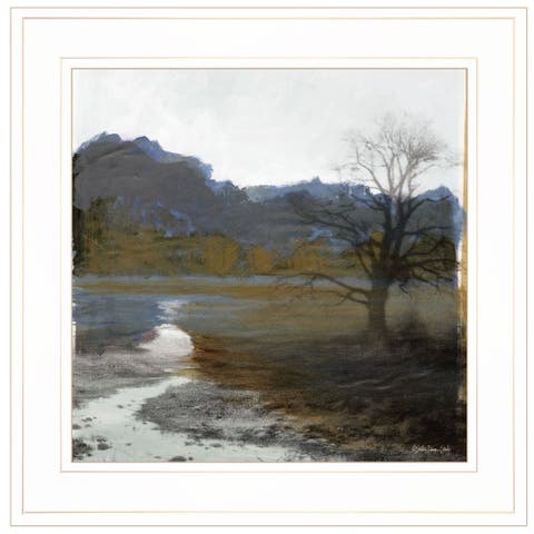 """Winter Landscape 6"" By Stellar Design Studio, Ready to Hang Framed Print, White Frame"
