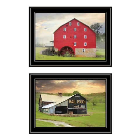 """""""Mail Pouch Barn and Mill Collection"""" By Lori Deiter, Ready to Hang Framed Print, Black Frame"""
