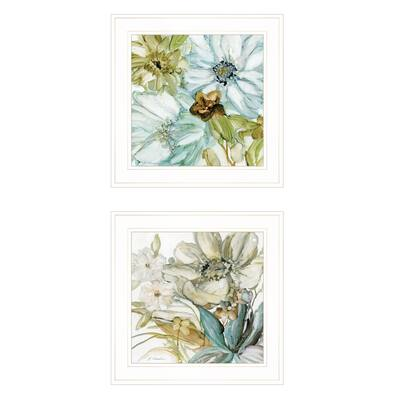 """Sea Glass"" By JG Studios Ready to Hang White Framed Print"