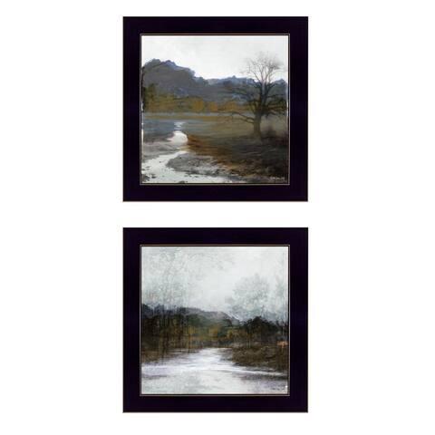 """Winter Landscape"" By Stellar Design Studio, Ready to Hang Framed Print, Black Frame"