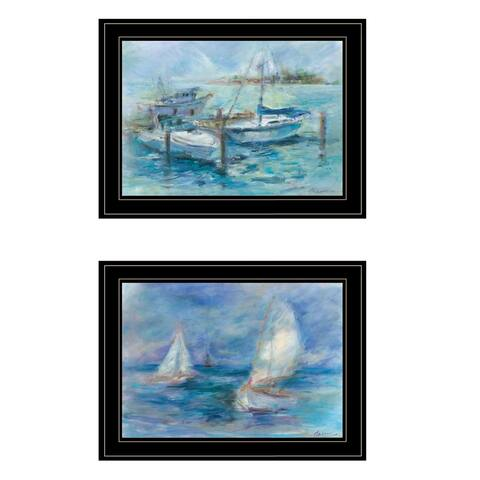 """""""Dockside"""" By Tracy Owen-Cullimore, Ready to Hang Framed Print, Black Frame"""