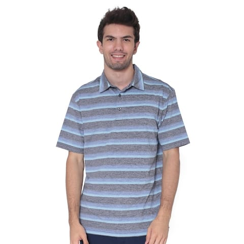 AVA Athletica Men's Moisture Wicking Active Wear Broad Striped T-Shirt