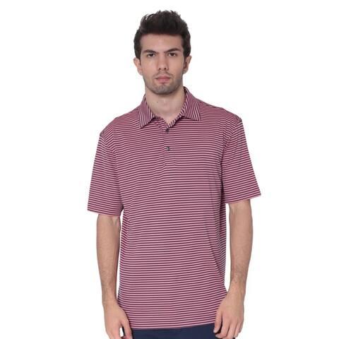 AVA Athletica Men's Moisture-Wick Active Wear Fine Striped T-Shirt