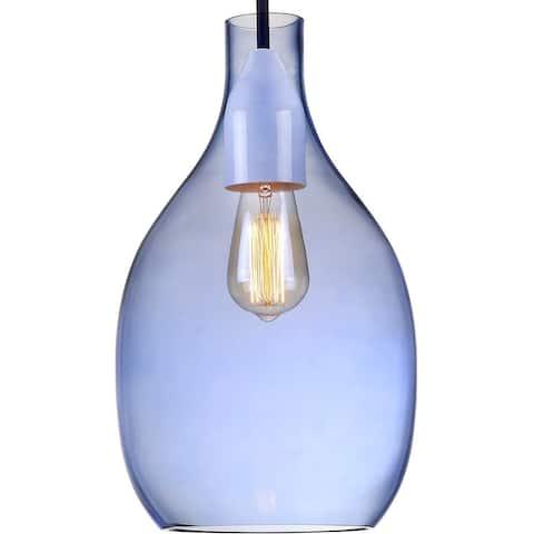 Glass Pendant Modern Light - Hand Blown Glass Dome Pendant Light - 16