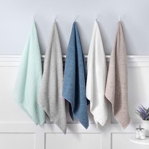 Martha Stewart Cameron Scultped 6 Piece Towel Set