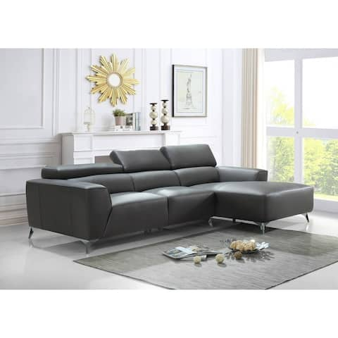 Best Quality Furniture 2-Piece Full Leather Sectionals